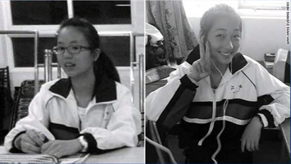 Crash victims Wang Linjia and Ye Mengyuan
