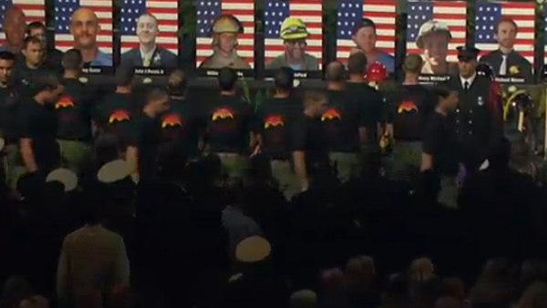 Memorial service for 19 fallen firefighters