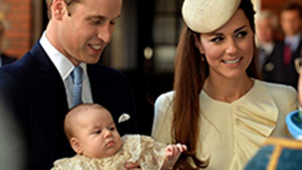 Britain's baby Prince George christened in London