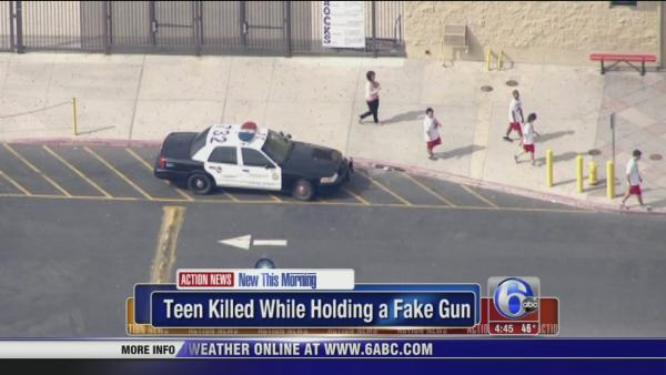 Teen killed while holding fake gun in California