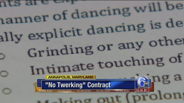 Students forced to sign 'No Twerking' contract