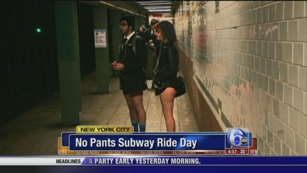 No pants subway ride day in NYC