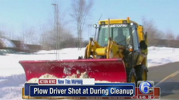 Impatient husband shoots at snow plow