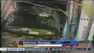 video: Man drives stolen truck into Baltimore TV station