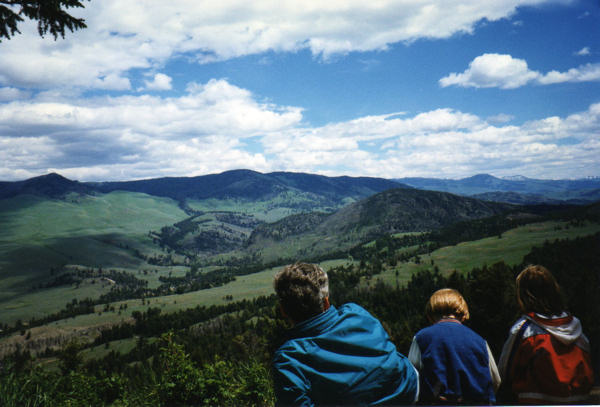 "This is one of my family's all-time favorite spots in Yellowstone.  We refer to it as ""Peaceful Valley"" because you could hardly hear a sound here.  It was like looking at a living painting."