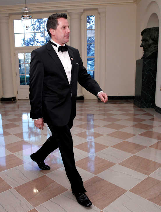 "<div class=""meta image-caption""><div class=""origin-logo origin-image ""><span></span></div><span class=""caption-text"">White House Social Secretary Jeremy Bernard walks through the Booksellers area of the White House in Washington for the State Dinner hosted by President Barack Obama and first lady Michelle Obama for British Prime Minister David Cameron and his wife Samantha, Wednesday, March 14, 2012. (AP Photo/Charles Dharapak)</span></div>"