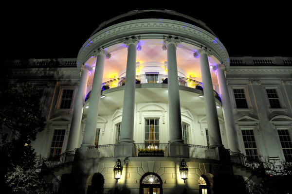 The White House is awash with color for the State Dinner for British Prime Minister David Cameron with President Barack Obama at the White House in Washington, Wednesday, March 14, 2012. (AP Photo/Susan Walsh)