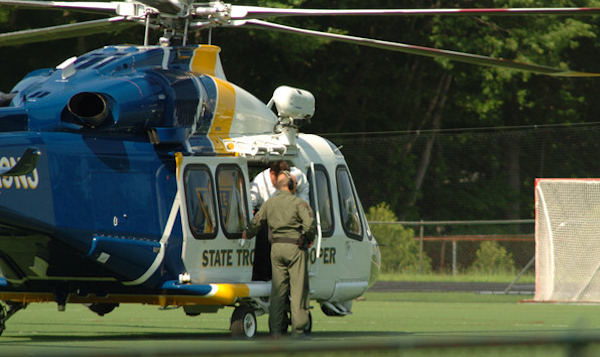 Gov. Chris Christie takes state helicopter to son's ball game