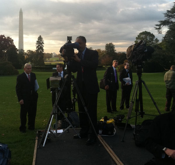 Brian Taff on assignment at the White House