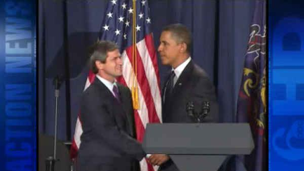 Obama stops in Phila. to stump for Sestak