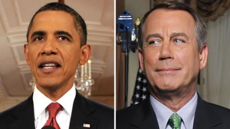 President Barack Obama and Rep. John Boehner