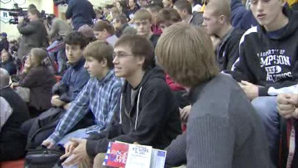 Young Iowa voters 'rock the caucus'