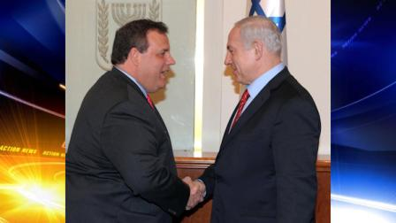 Gov. Chris Christie and Benjamin Netanyahu