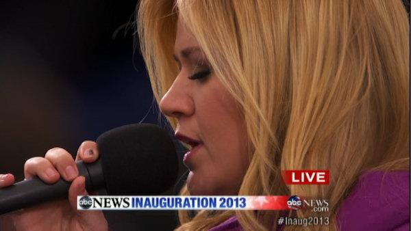 Inauguration Day 2013: Kelly Clarkson performs