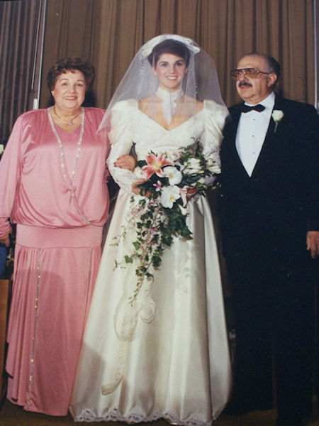 Amy Buckman's wedding in 1987