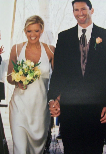Cecily Tynan's wedding in 2005