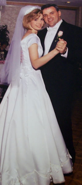 Karen Rogers' wedding in 1996