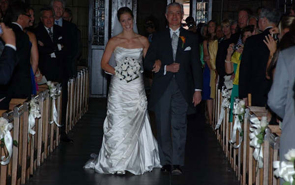 Katherine Scott's wedding in 2008