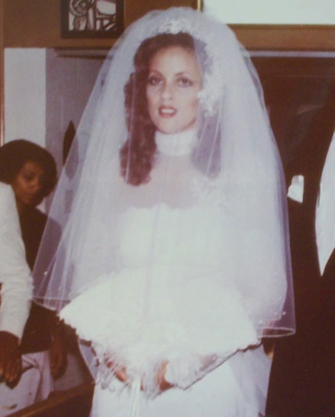 Lisa Thomas-Laury's wedding in 1980