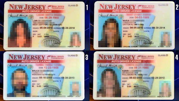 Can you spot the fake New Jersey drivers license?