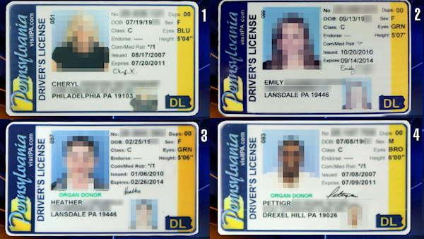 Can you spot the fake Pa. drivers license?
