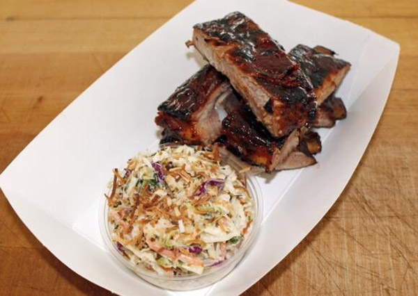The New York Yankees are selling coconut rum glazed BBQ smoked ribs. (Photo: Darren Rovell)