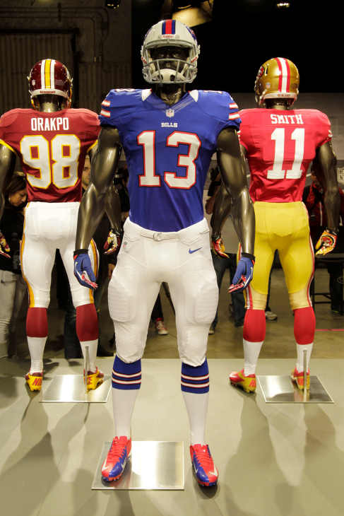 NFL unveils new uniforms