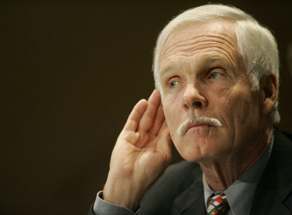 January 1977: Ted Turner, Braves &#40;MLB&#41;. Fined and suspended for one year &#40;Turner appealed the suspension&#41; for tampering with pending free agent Gary Matthews &#40;ESPN&#41; <span class=meta>(AP Photo&#47; MANUEL BALCE CENETA)</span>