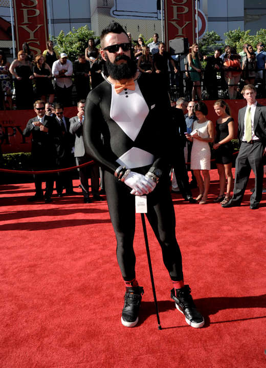"<div class=""meta image-caption""><div class=""origin-logo origin-image ""><span></span></div><span class=""caption-text"">San Francisco Giants pitcher Brian Wilson arrives at the ESPY awards on Wednesday, July 13, 2011, in Los Angeles. (AP Photo/Dan Steinberg) </span></div>"