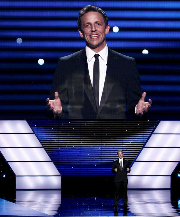 Host Seth Meyers at the ESPY Awards on Wednesday, July 13, 2011, in Los Angeles. (AP Photo/Matt Sayles)