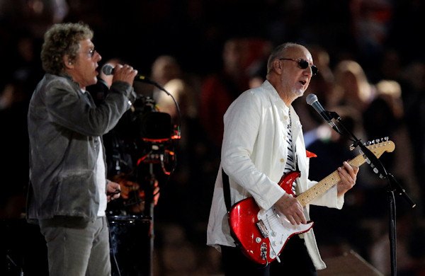 "<div class=""meta ""><span class=""caption-text "">The Who guitarist Pete Townsend, right, and singer Roger Daltrey perform during the Closing Ceremony at the 2012 Summer Olympics, Monday, Aug. 13, 2012, in London. (AP Photo/Matt Slocum) </span></div>"