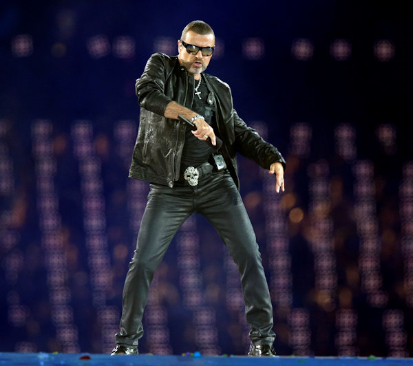 "<div class=""meta ""><span class=""caption-text "">George Michael performs during the Closing Ceremony at the 2012 Summer Olympics, Sunday, Aug. 12, 2012, in London. (AP Photo/Charlie Riedel) </span></div>"