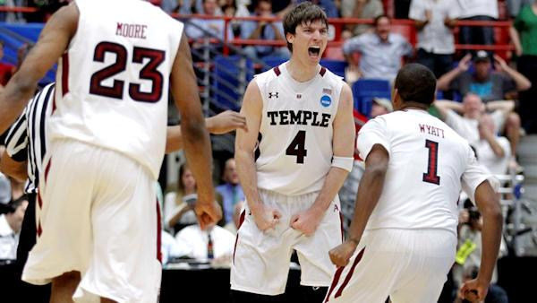 Madness at Temple campus over big win