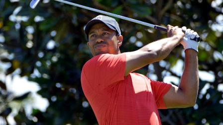 Tiger Woods hits from the second tee during the final round of the Arnold Palmer Invitational golf tournament at Bay Hill, Sunday, March 25, 2012, in Orlando, Fla. (AP Photo/Phelan M. Ebenhack)