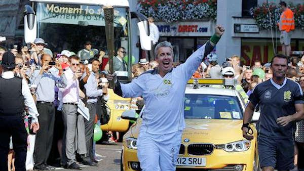 Olympic torch cheered through London