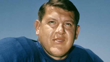 This 1968 photo provided by the NFL shows Detroit Lions football player Alex Karras. Karras, who gained fame in the NFL as a fearsome defensive lineman and later as an actor, has died. He was 77. Craig Mitnick, Karras attorney, said Karras died at home in Los Angeles on Wednesday, Oct. 10, 2012, surrounded by family. (AP Photo/NFL Photos)