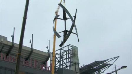 Wind turbine installed at Lincoln Financial Field