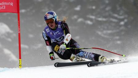 United StatesLindseyVonn speeds down the course during the womens super-G course, at the Alpine skiing world championships in Schladming, Austria, Tuesday, Feb.5, 2013.