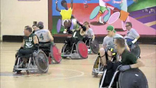 Wheelchair rugby gives hope and strength