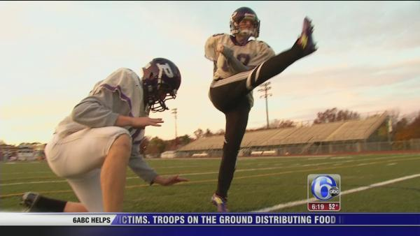 Football kicker Alex Wertman makes history