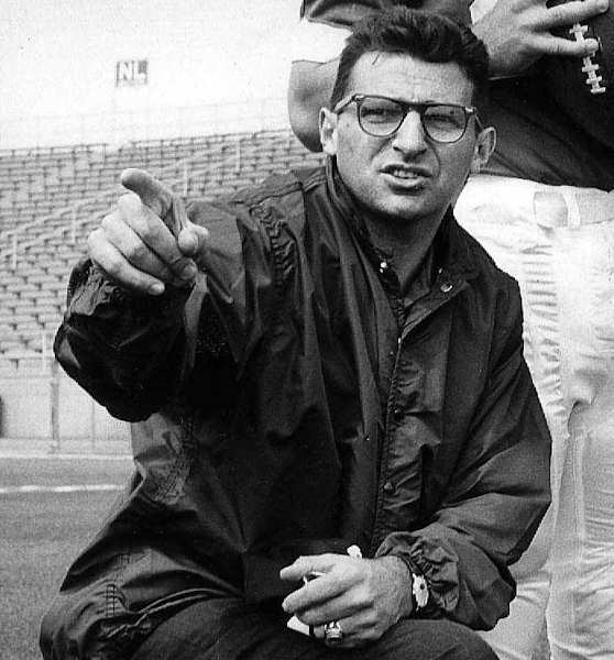 "<div class=""meta image-caption""><div class=""origin-logo origin-image ""><span></span></div><span class=""caption-text"">This is a Jan. 28, 1965, file photo showing Penn State associate coach Joe Paterno, directing players, in State College, Pa. JoePa is just six wins shy of joining Eddie Robinson and John Gagliardi in the 400 career victories club.  (AP Photo/File)</span></div>"