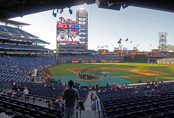 Citizens Bank Park Saturday, Aug. 24, 2013, in Philadelphia. (AP Photo/H. Rumph Jr)