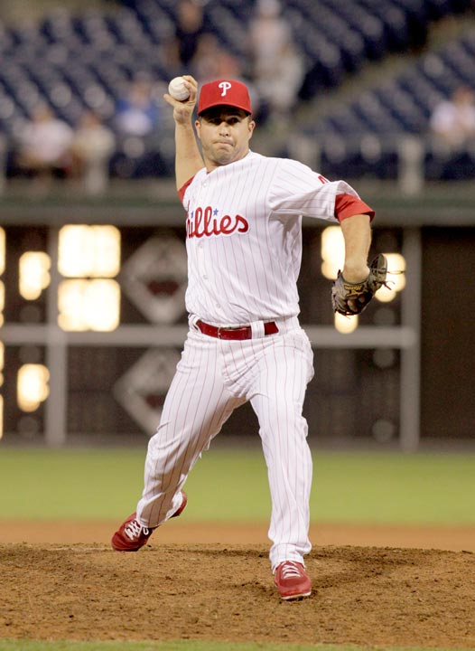 Philadelphia Phillies' John McDonald in baseball action against the Arizona Diamondbacks , Sunday, Aug. 25, 2013, in Philadelphia. (AP Photo/H. Rumph Jr)
