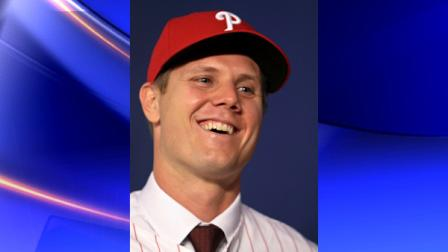 Philadelphia Phillies right-handed closer Jonathan Papelbon laughs at a question Monday Nov. 14, 2011, during a news conference in Philadelphia. The former Boston Red Sox closer receives the largest contract ever for a reliever - $50 million over four years. He replaces Ryan Madson, who is also a free agent. (AP Photo/Joseph Kaczmarek)