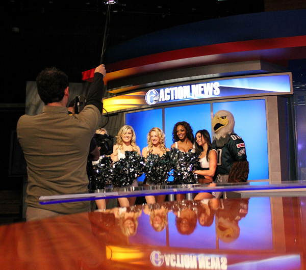 Look who stopped by the 6abc studios to help promote the Eagles' playoff push!