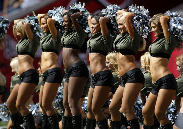 The Tampa Bay Buccaneers cheerleader perform for the crowd during an NFL football game against the St. Louis Rams Sunday, Oct. 24, 2010 in Tampa, Fla. <span class=meta>(AP Photo)</span>