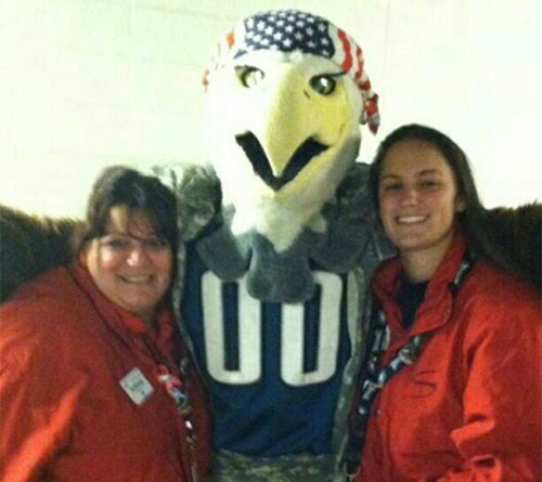 Me and Swoop! I work at the Linc too! Proud to be a part of this team! <span class=meta>(Eagles Fan Photos - 2013 Playoffs)</span>