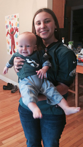 "<div class=""meta ""><span class=""caption-text "">This Christmas I gave my nephew the gift of not having to grow up a Bears fan. (Eagles Fan Photos - 2013 Playoffs)</span></div>"