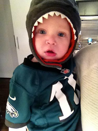 Jackson W. may be tiny, but he&#39;s a HUGE Eagles fan.  GO EAGLES! <span class=meta>(Eagles Fan Photos - 2013 Playoffs)</span>