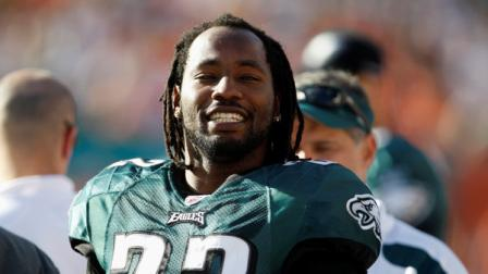 Philadelphia Eagles cornerback Asante Samuel (22) on the sidelines during the second half of an NFL football game against the Miami Dolphins, Sunday, Dec. 11, 2011, in Miami .